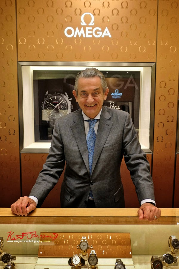 Portrait of OMEGA President Mr Stephen Urquhart at the opening of the Westfield Bondi Junction OMEGA store - Photography by Kent Johnson for Street Fashion Sydney.
