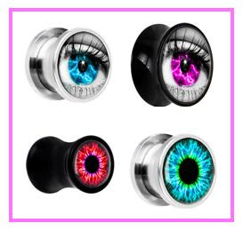Eye Ear Plug Alargador temática de olho humano