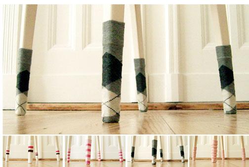 Носочки на ножки стула своими руками