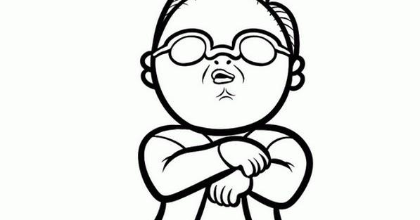 Bonjour les enfants le blog coloriage psy gangnam style - Dessin de psy ...