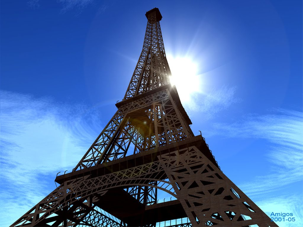 The eiffel tower in paris france - Image de tour eiffel ...