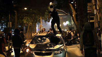 Protestos no Rio de Janeiro - Um Asno