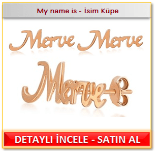 My name is - İsim Küpe