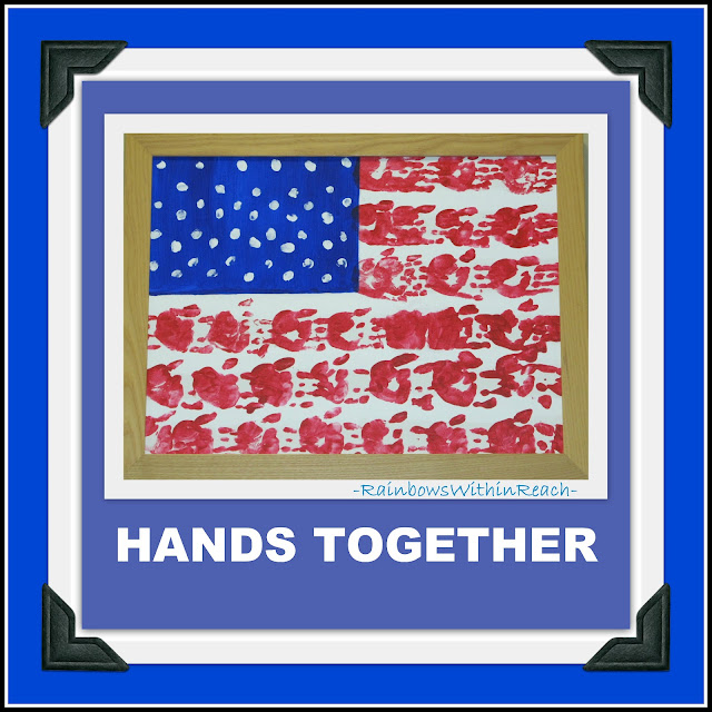 Flag of painted handprints