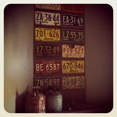 license plates as decoration