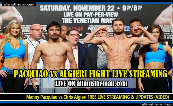 Manny Pacquiao vs Chris Algieri FREE LIVE STREAM & UPDATES (VIDEO)
