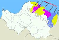 Χαρτης Δημου Αιγιαλειας με τις εδαφικες ενοτητες των τεως Δημων