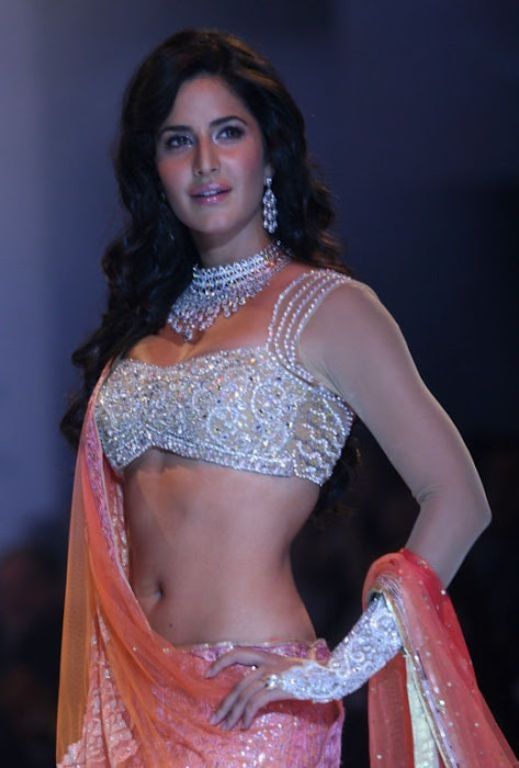 katrina kaif saree navel