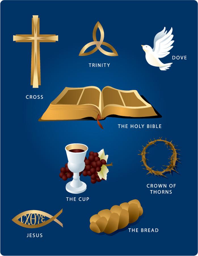 宗教テーマのクリップアートとシルエット religious theme vector イラスト素材1