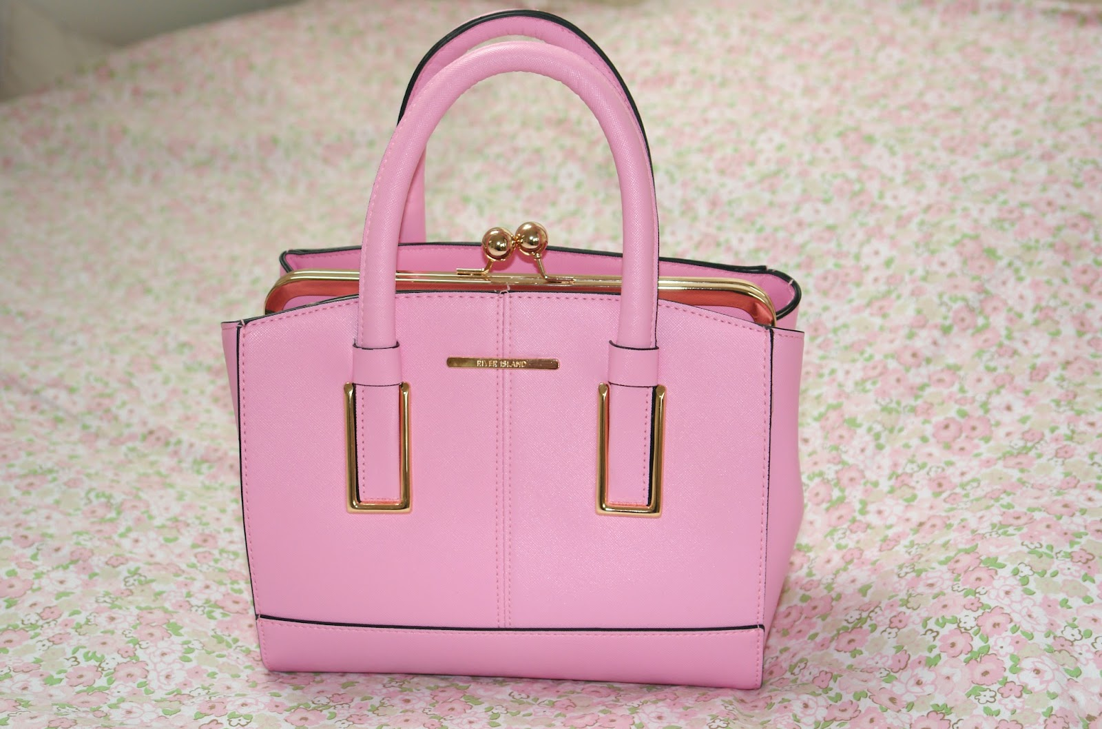 River Island Light Pink Mini Structured Tote Bag, review, summer, 2014, S/S, spring, bags, pink, River Island, pink handbag, fashion, blogger, UK blogger, top UK blogger