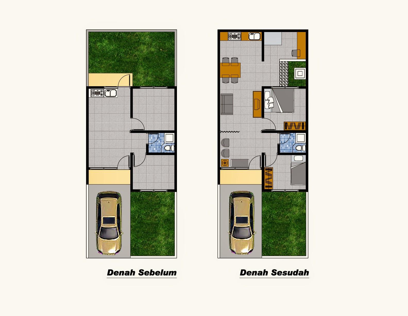 Denah Rumah Sederhana Tipe 36 2014
