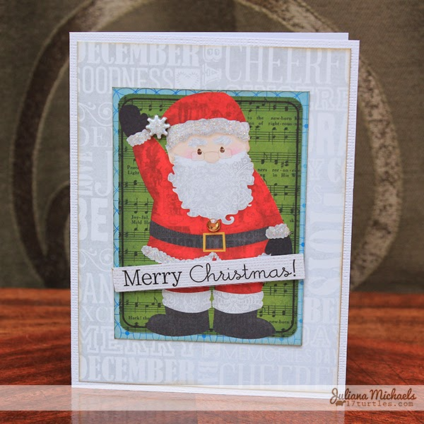 Tis The Season Santa Christmas Card by Juliana Michaels