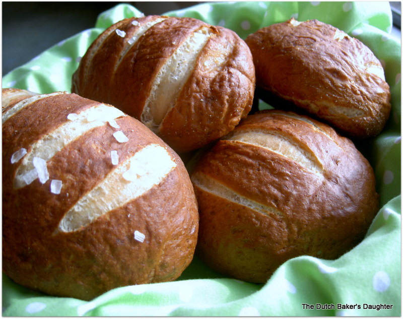 pretzel buns at Trader Joe's. Want to see how I made them? Here you go ...
