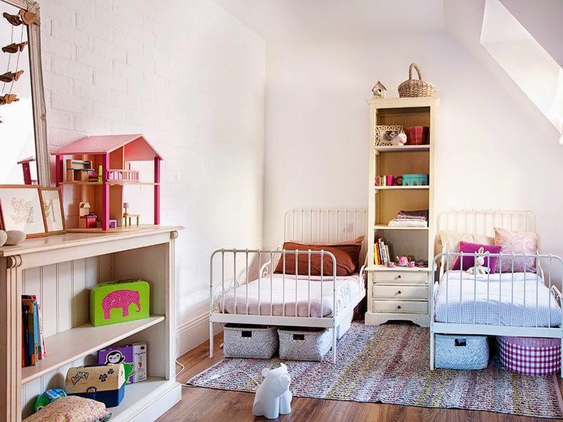 Interior reciclaje y mix lowcost muy chic virlova style - Habitaciones pequenas ninos ...
