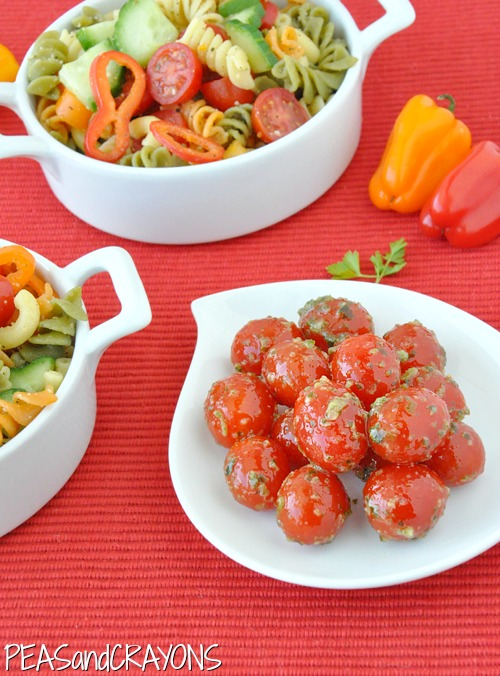 Pesto Marinated Cherry Tomatoes