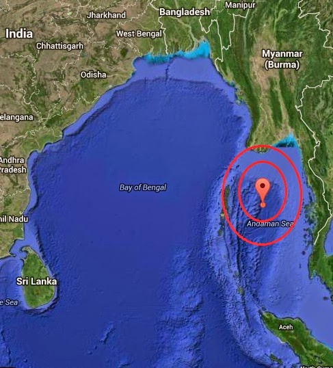 Magnitude 5.8 Earthquake of Port Blair, India 2014-07-31