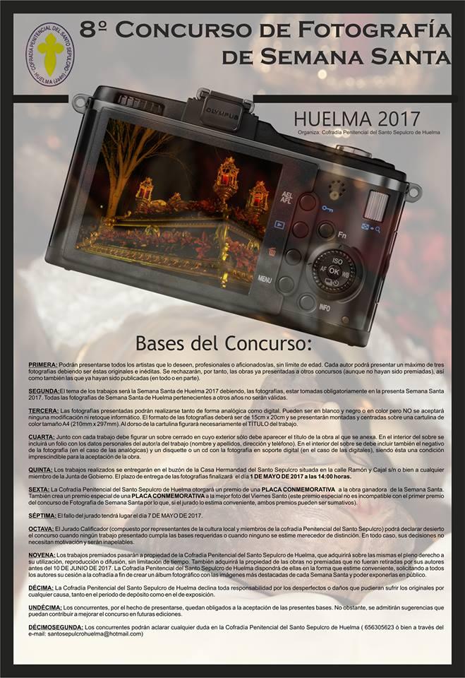 8º CONCURSO DE FOTOGRAFIA DE SEMANA SANTA HUELMA 2017