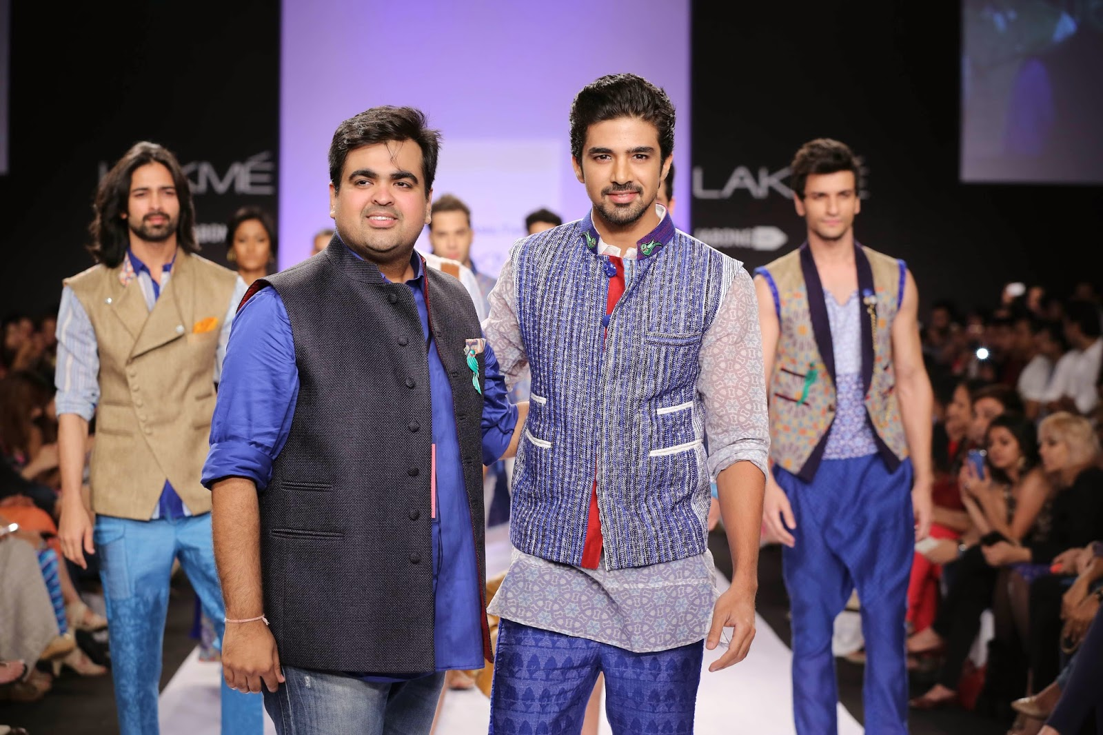 Ending the show was the dapper rising star Saqib Saleem in a printed waist coat, shirt and trousers that reflected the theme.