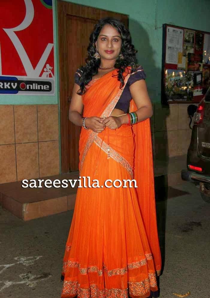 Vyjayanthi In Designer Half Saree