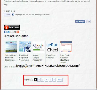 cara buat halaman atau page di blog