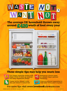 Posters on saving food