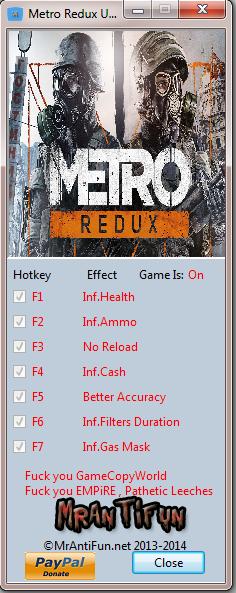 Metro 2033 Redux Update 3 Trainer +7 MrAntiFun