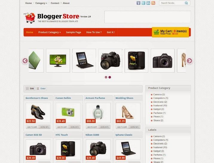Blogger Store v2 Blogger Template
