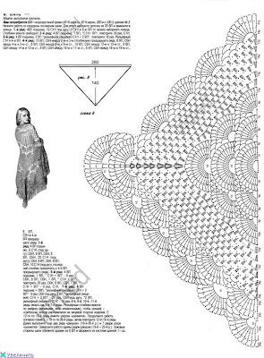Схемы шалей и палантинов крючком схемы и описания