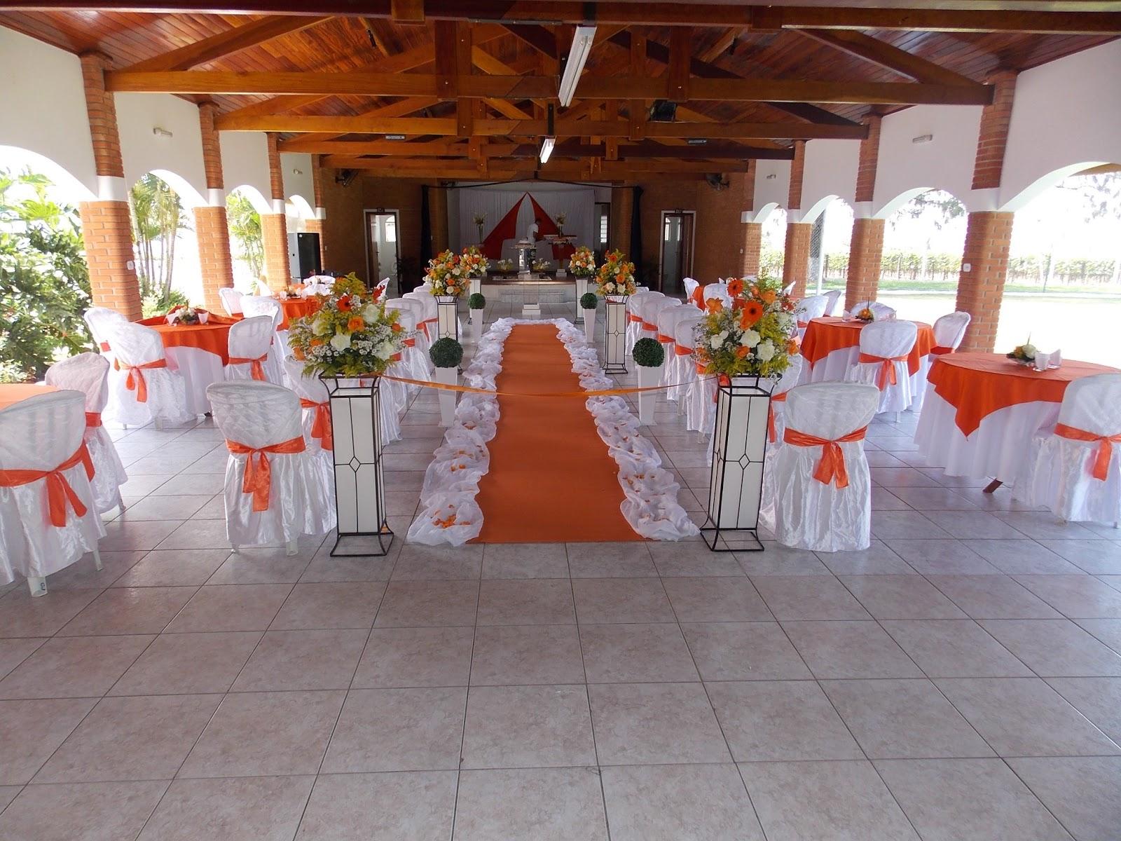 Decoração Casamento Laranja e Branco KEP's Decorações #AA3921 1600x1200 Banheiro Branco E Laranja