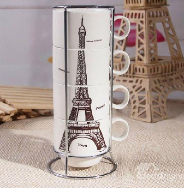 http://www.beddinginn.com/product/Amazing-Creative-Eiffel-Tower-Four-Piece-Coffee-Mug-Sets-10961407.html