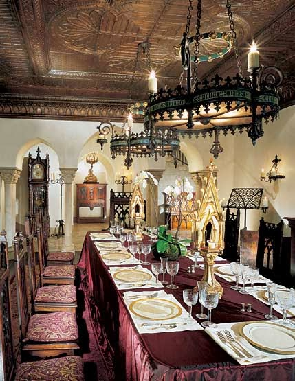 Gothic Style Dining Room At Chers Malibu Home