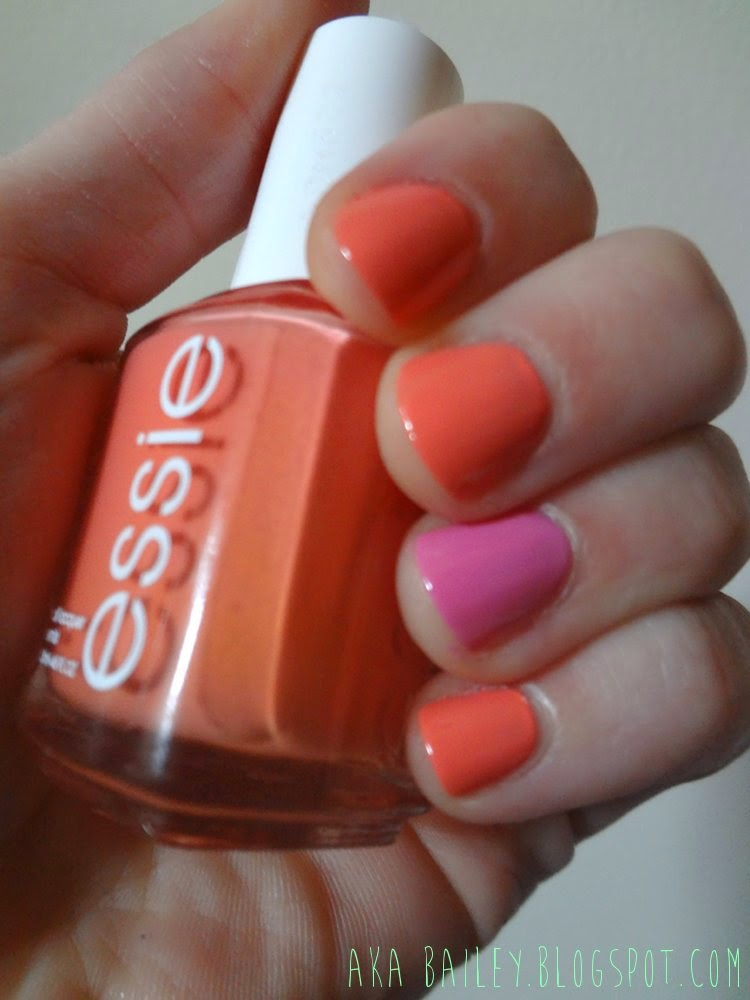 Essie's Tart Deco with Milani's Tip Toe Pink as an accent nail