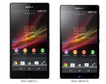 Sony Xperia Z dan Sony Xperia ZL