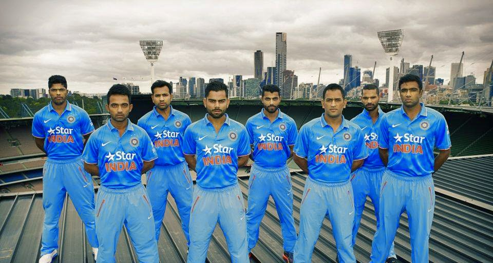 Indian Team ICC World Cup 2015 Jersey