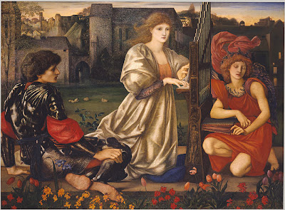 La canzone d'amore o Love Song quadro di Sir Edward Burne Jones
