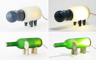 Lámparas de Mesa con Botellas Recicladas