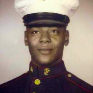 A young Kenneth Chamberlain  in the Marine Corps.