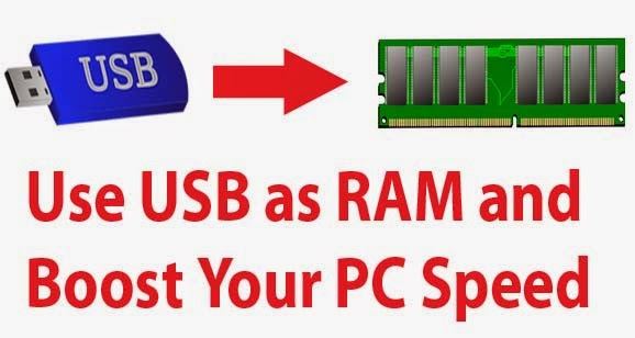 how to use flash drive as ram