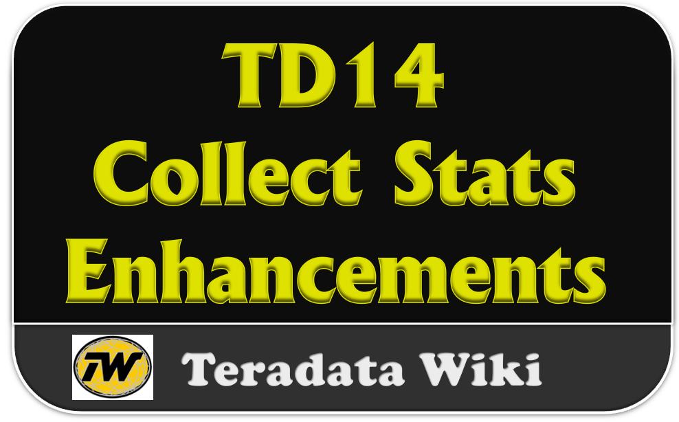 teradata Collect Statistics