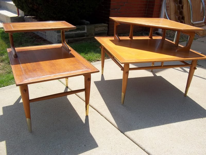 Lane Mid Century Heywood Wakefield Style End Table Corner Coffee Table Sold Gatyo Retro