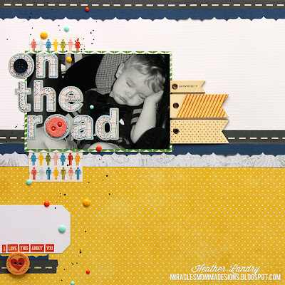 Road Trip Scrapbook Page_Baby Boy