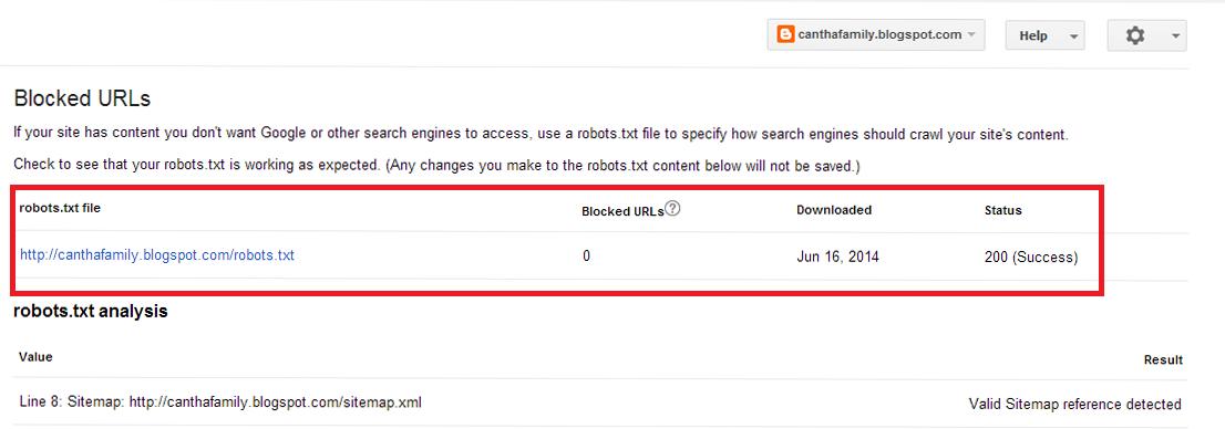 Mengatasi Masalah Blocked URL di Webmaster Tools
