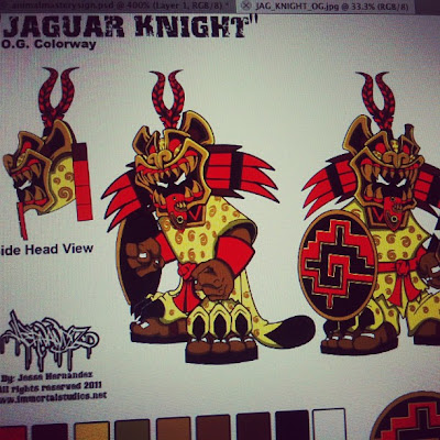 Teaser Image: Jesse Hernandez x Pobber Toys The Jaguar Knight OG Colorway