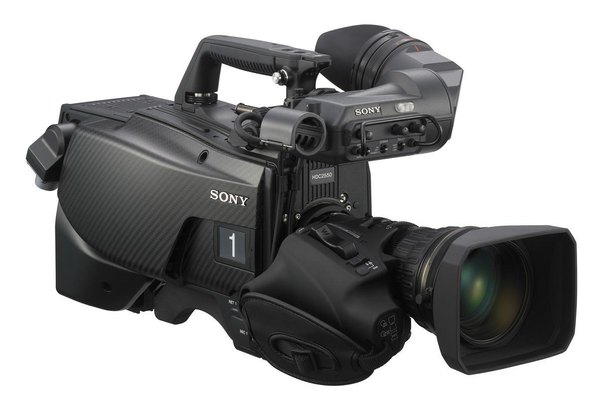 sony tv camera. sony hdc-2000 + hdc-2550 cameras tv camera