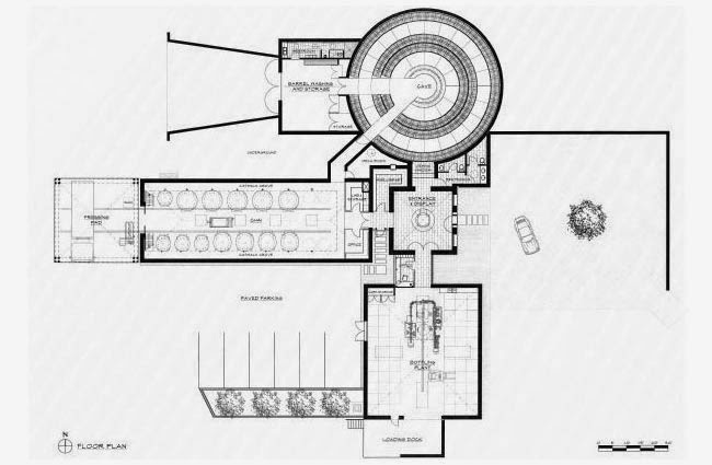 A daily dose of architecture the boxwood winery for Winery floor plans by architects