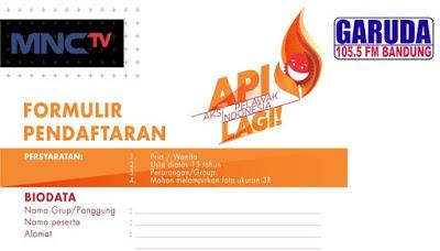 formulir Audisi APILAGI MNCTV