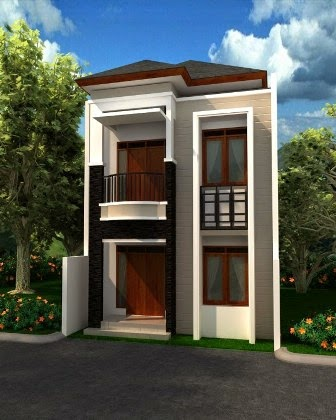 Desain Rumah Minimalis 2 Lantai Type 42