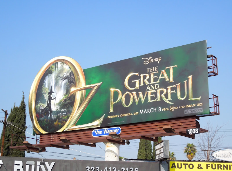 Oz Great Powerful special extension movie billboard