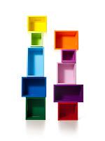renkli rengarek  tasarım kitaplık Design