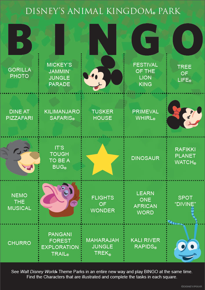 photo about Disney Bingo Printable named Disney Debuts a Clean Direction in direction of Perform - In addition the Magic